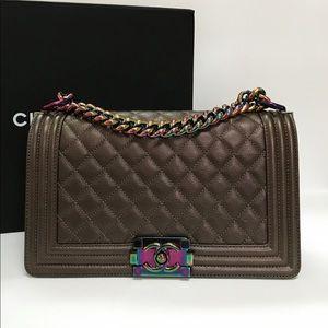 ❌SOLD❌ Chanel Bronze Mermaid Old Medium Boy Bag